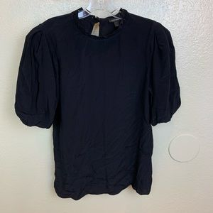 Something Navy Black Blouse size Small